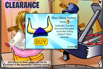 Blue viking helmet cheat