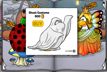 Ghost Costume cheat